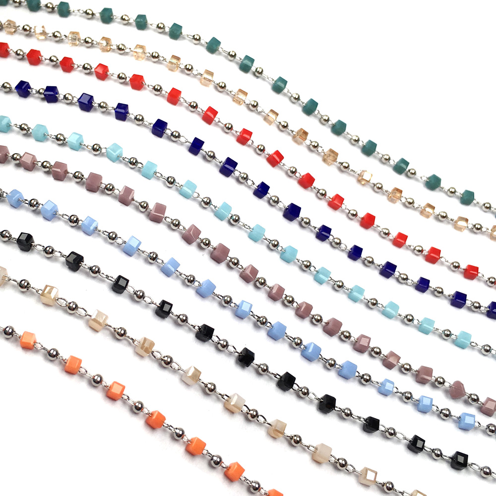 Stone Chain 2mm Pack of 1 Meter For Bangles Jewellery Making