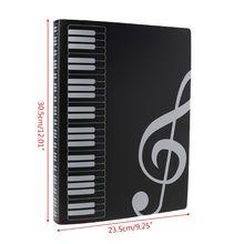 40 Pages A4 Size Piano Music Score Sheet Document File Folder Storage Organizer P9YA