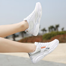 Women Fashion Breathable Mesh White Shoes Low Lace Up Comfortable Outdoor Running Shoes Women's Jogging Walking Sneakers(China)