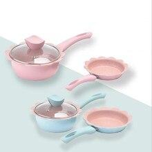 Детская пищевая добавка, горшок для горячего молока Maifan, каменный антипригарный горшок, Детская сковорода, лапша быстрого приготовления, домашняя многофункциональная сковорода