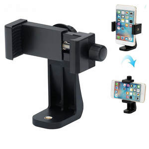 Bracket-Adapter Clip-Mount Cell-Phone-Stand-Bracket Smartphone Rotation for 360-Degree