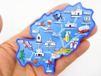 Ibiza, Spain  Mediterranean European Tourist Souvenirs Creative Refrigerator Stickers Resin  fridge magnets  gift ideas 1pc resin refrigerator magnets 3d london brige travel souvenirs fridge magnets