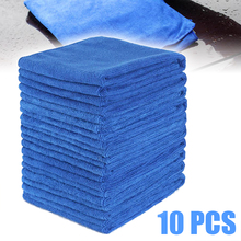 Auto Cleaning Accessory 10pcs Blue Car Soft Microfiber Wash Duster High Absorbent Polish Towel Cloth 30*30cm