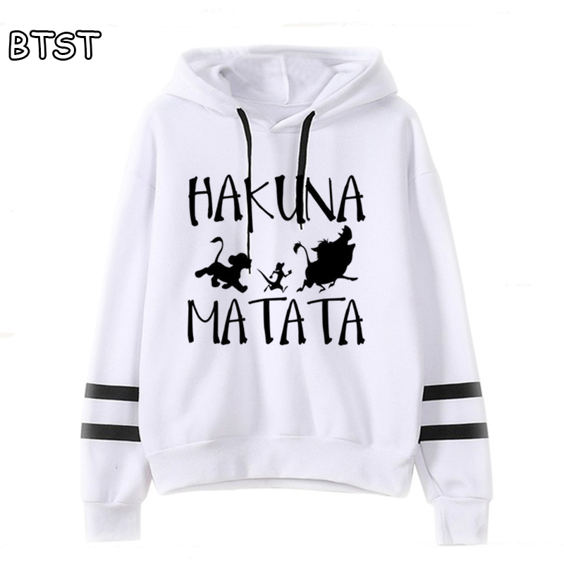 Kawaii Lion King Oversized Hoodie Full Hoodies Women Punk Fashion Pink Hoodie Kpop Clothes Polyester Sweatshirt Harajuku Shirt
