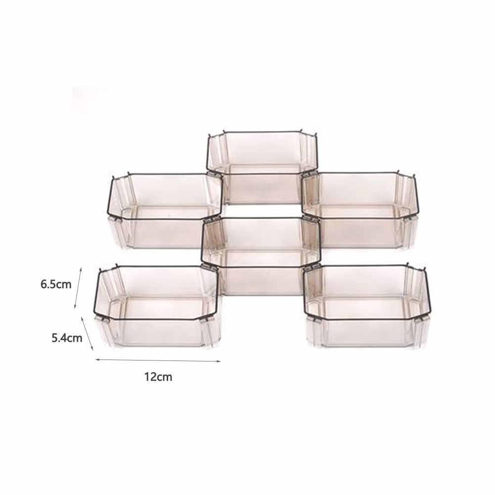 6 枚の下着の収納ボックス服クローゼットオーガナイザー分周器引き出し蓋付きケースインテリア organizad ためネクタイソックスショートブラセット