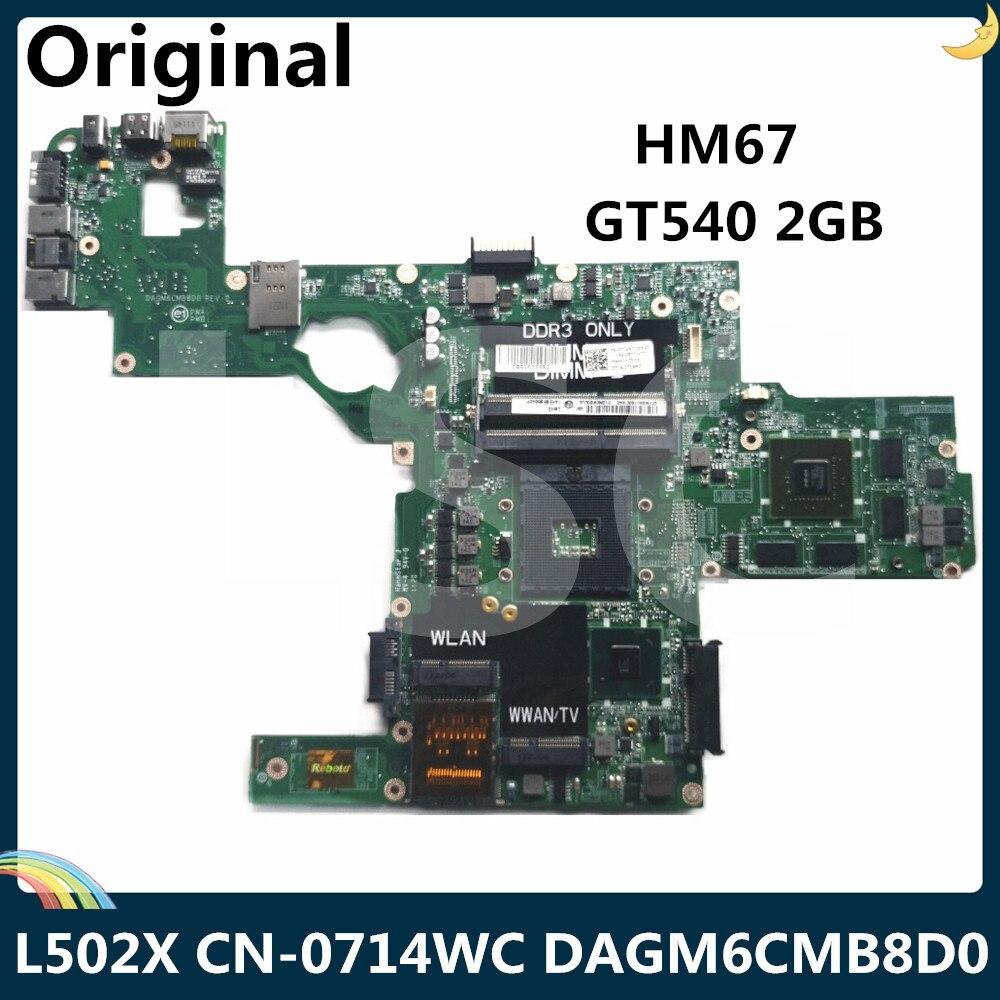 LSC для DELL XPS L502X материнская плата для ноутбука CN-0714WC 0714WC 714WC GT540 2GB DAGM6CMB8D0 HM67