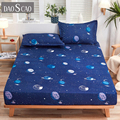 1pcs 100% polyester printing bed mattress set with four corners and elastic band sheets hot sale (pillowcases need order)