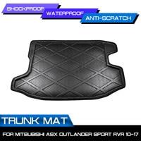 Car Floor Mat Carpet For Mitsubishi ASX Outlander Sport RVR 2010 2017 Rear Trunk Anti mud Cover|Floor Mats| |  -