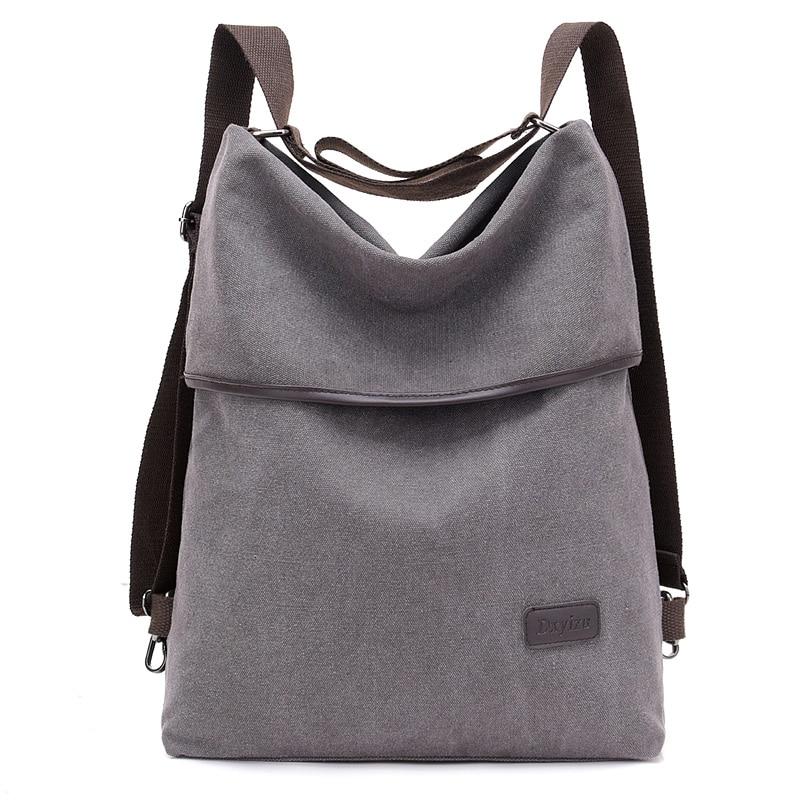 Women Canvas Backpack Fashion Shoulder Bag Travel School Bag For Teenage Girl Rucksacks