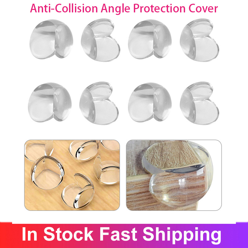 8pcs/lot Edge Corner Guard Child Security Baby Safety Table Corner Protector Transparent Anti Collision Angle Protection Cover 1
