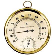 Термометр для сауны, чехол из нержавеющей стали, термометр для паровой сауны, гигрометр для ванны и сауны, для использования в помещении и на открытом воздухе
