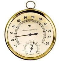 Термометр для сауны, чехол из нержавеющей стали, термометр для паровой сауны, гигрометр для ванны и сауны, для использования в помещении и на...