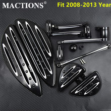 Motorcycle Front Rear Floorboards Footpeg Shifter Linkage Brake Arm Shift Lever For Harley Touring Electra Street Glide 2008- 13