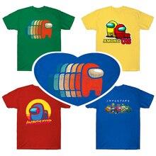 T-Shirt Game Among Us Children Girls Boys Kids Cartoon Summer for Cute Anime Printed
