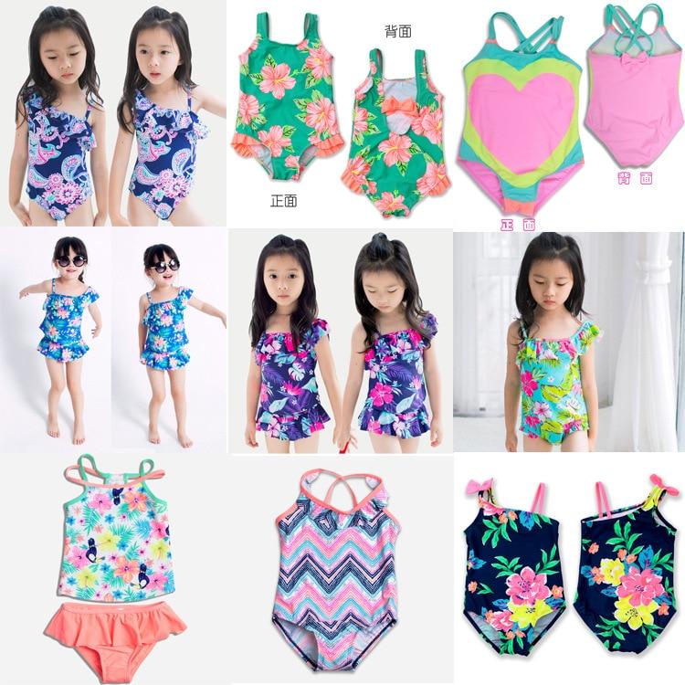 New Style KID'S Swimwear GIRL'S Swimsuit Baby GIRL'S Infants Bathing Suit Small CHILDREN'S Fashion Swimwear Child Swimwear Combi