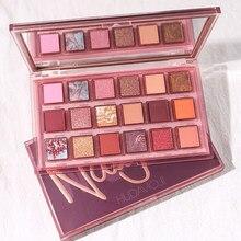 18 couleurs professionnel femmes ombre à paupières cosmétique imperméable à l'eau longue durée couleur de la terre graines de grenade fard à paupières Palette maquillage