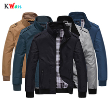 Mens Sportswear Spring Autumn Casual Coats Solid Color Mens Jackets Stand Collar Slim Jackets Male Bomber Jackets uniform M-4XL new arrival spring autumn men s jackets solid fashion coats male casual slim stand collar bomber jacket men overcoat 4xl