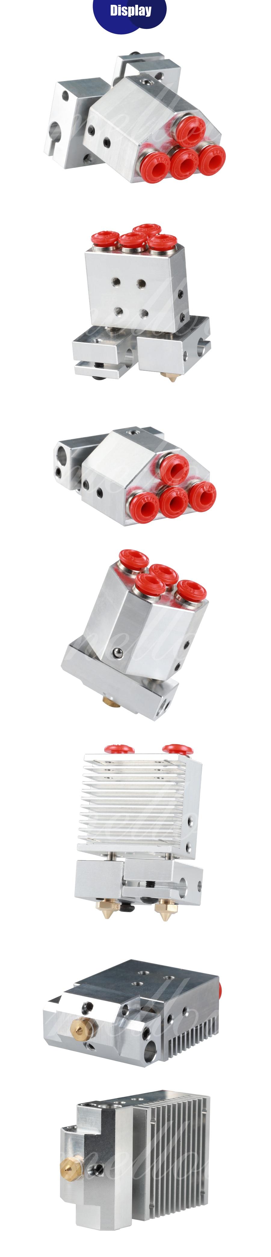 em 1j-head hotend kit para peças de impressora 3d