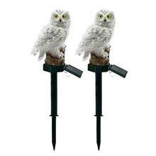 Novelty Solar Garden Lights Double Owls Ornament Animal  Outdoor LED Decor