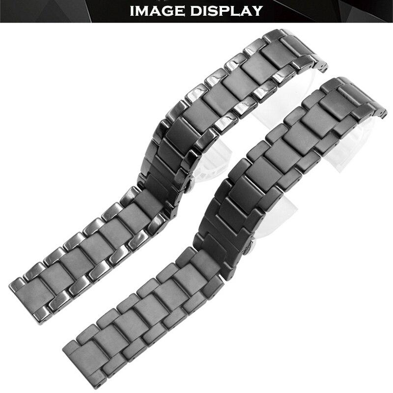 Cerâmica de Luxo para Samsung Banda Galaxy Assista 46mm 42mm Engrenagem s3 Cinta Ativa 2 40 44mm Relógio Inteligente Pulseira Cerâmica 20mm 22mm 24mm