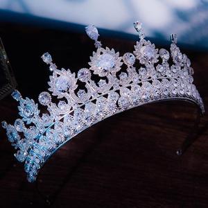 Image 5 - 高級ティアラと王冠czジルコニア王女ページェント婚約カチューシャウェディングヘアアクセサリーイブニングドレスブライダルジュエリー