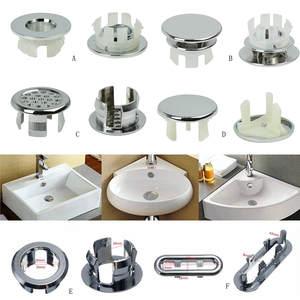 Basin Bathroom-Set Sink 6-Assoeted Overflow-Cover Chrome-Trim Ceramic Artistic