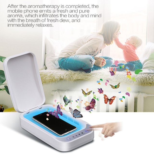 UV Disinfection Box Sanitizer Charger Prevent Flu For iPhone/Samsung Mobile Phone Headphones Mask Sterilizer Kill 99.9% Viruses 2