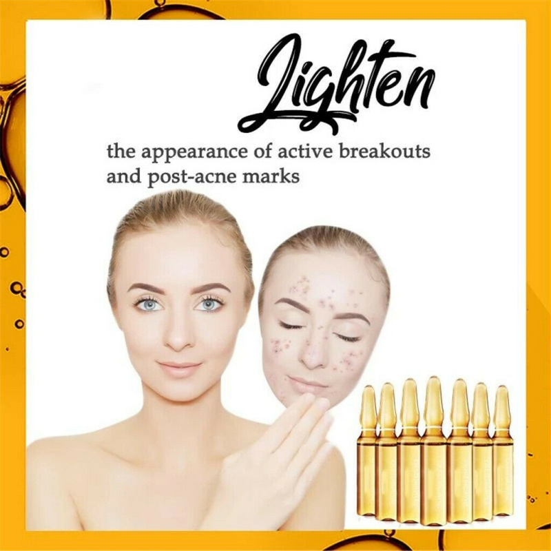New 7PCS Face Serum Set Dark Spot Corrective Ampoule Essence Set Moisturizing Body Lotion Hyaluronic Acid Gold Skin Care TSLM1