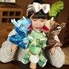 25CM Cartoon Simulation Dinosaur Triceratops Plush Stuffed Toy Hand Puppet Hand-made Holiday Birthday Gift Children's Game Doll