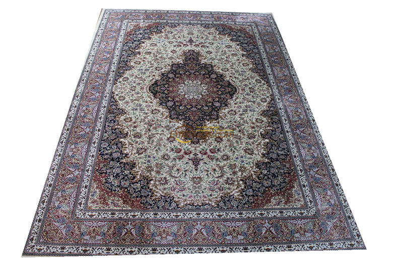 Silk Persian Rug Oriental Rugs Handwoven Carpets For Living Room Pattern St-0903260l