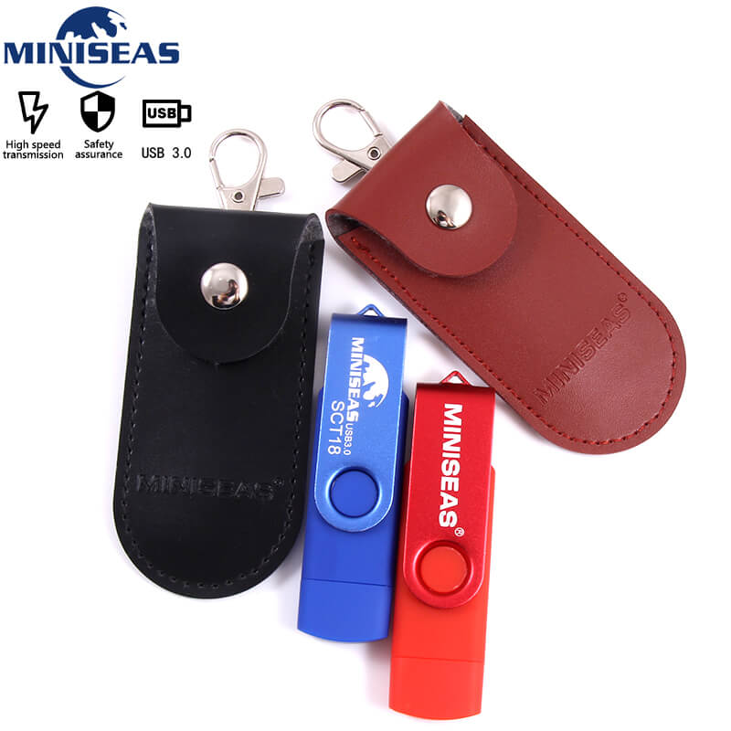New Miniseas usb 3.0 OTG 64GB Pen Drive USB Flash External Storage Memory Stick 32GB 16GB Micro Pendrive bag