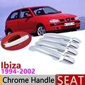 Для Seat Ibiza MK2 6K 1994 ~ 2002 хромированные дверные ручки крышки автомобиля аксессуары наклейки отделка комплект 1995 1996 1997 1998 1999 2000 2001