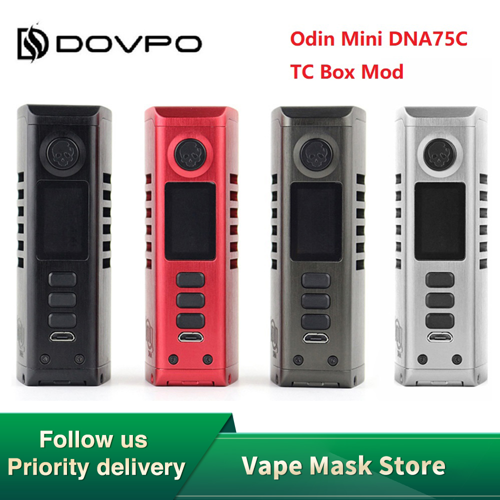 Hot Sale Dovpo Odin Mini 75W DNA75C TC Box Mod wi/ DNA75C Chipset & 75W Max Output 0.96'' Screen E-cig Vape Mod VS Topside Dual image