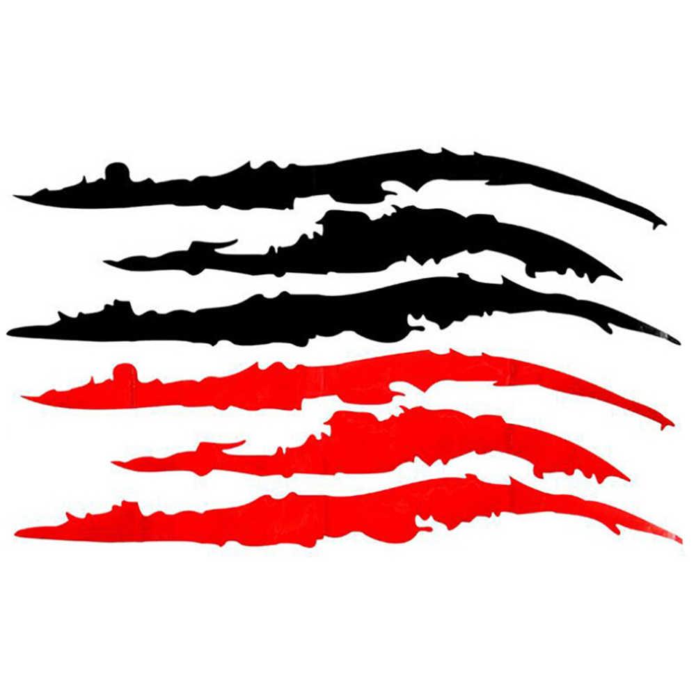 السيارات سيارة ملصق عاكس الوحش مخلب خدش الشريط علامات المصباح ملصق مائي ملصقات السيارات