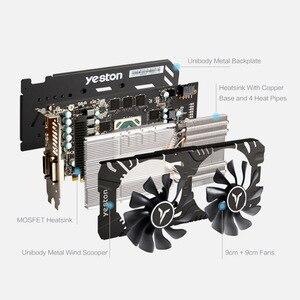 Image 3 - יסטון RX580 2048SP 8G D5 גאיה כרטיסים גרפיים Radeon צינה פולאריס 20 כפול מאוורר קירור 8GB זיכרון GDDR5 256bit DP * 3/HD/DVI D