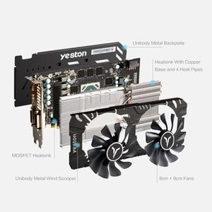 Image 3 - Yeston RX580 2048SP 8G D5 GAEA Graphics Cards Radeon Chill Polaris 20 Dual Fan Cooling 8GB Memory GDDR5 256bit DP*3/HD/DVI D