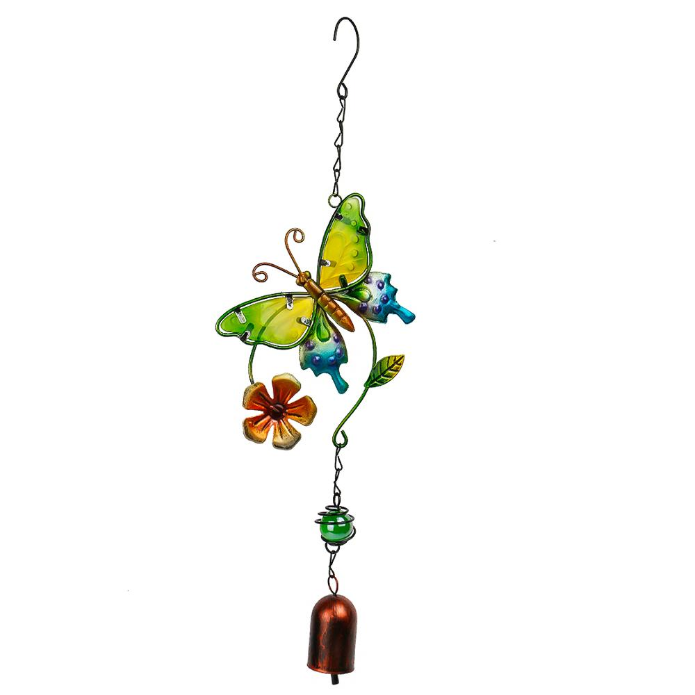 Gifts /& Decor Rainbow Butterfly Indoor//Outdoor Garden Wind Chime