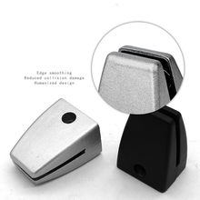 2pcs Plastic Glass clamp Vertical partition screen Fixed clip Desk Desktop Station Baffle support holder furniture hardware