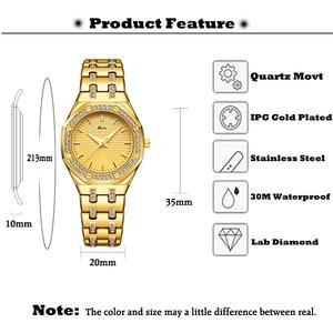 Image 2 - MISSFOX Fashion Watches Womens Expensive 18K Gold Ladies Wrist Watch Women Quartz Classic Analog Diamond Jewelry Hand Watch