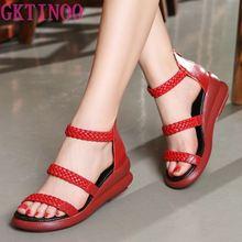 Women Sandals 2020 Summer Genuine Leather Gladiator