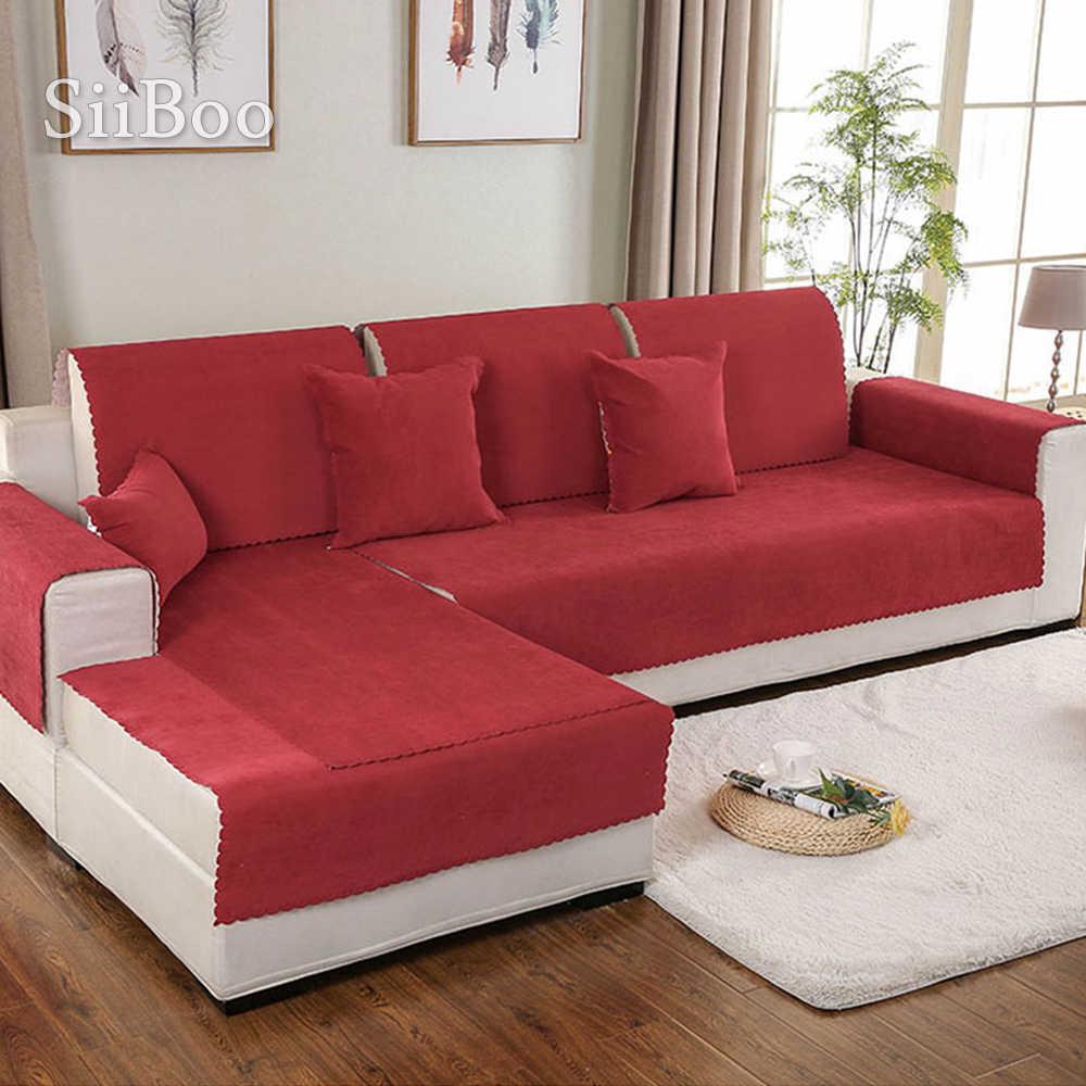 red blue yellow waterproof sofa cover silica gel anti slip covers fundas de sofa sectional couch covers fundas de sofa sp4978
