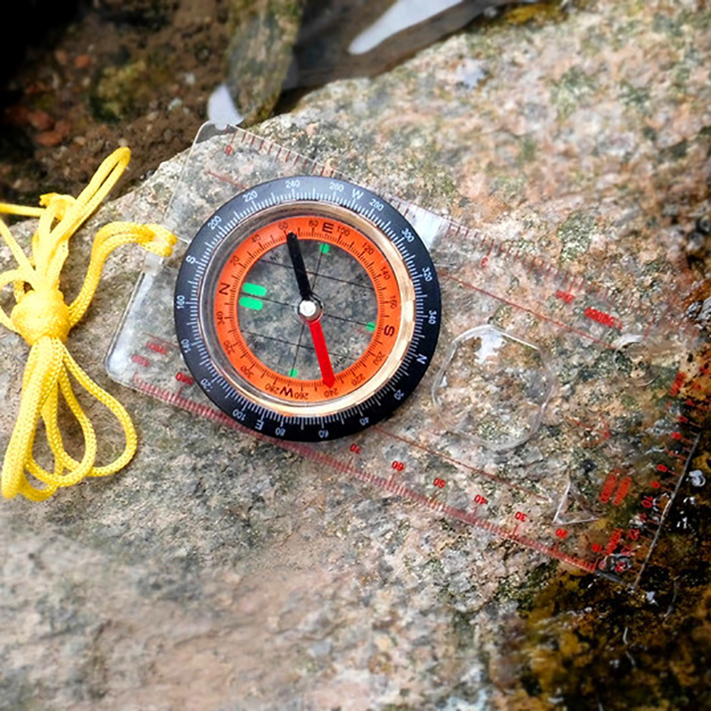 Professional Camping Compass Map Scale Ruler Hiking Portable Survival Tool Orienteering Mini Compass Multifunction Outdoor Tools