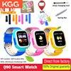 Les enfants intelligents regardent la montre intelligente denfants de traqueur de GPS décran tactile de Q90 WIFI pour des dispositifs sûrs de localisation dappel de SOS rappel Anti perdu