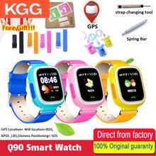 Reloj inteligente Q90 para niños, reloj inteligente Q90 con pantalla táctil WIFI, rastreador GPS, reloj inteligente para niños seguro, dispositivos de ubicación de llamada de emergencia, recordatorio antipérdida