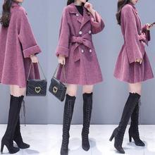 Women Lapel Belt Trench Coat Elegant Lace Up Woolen Long Coat Outerwear 2018 Spr
