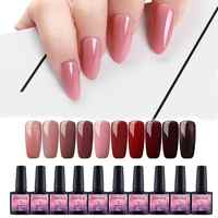 COSCELIA 10pcs/Lot UV Gel Nail Polish Set 8ml Manicure Soak Off UV Gel Color Nail Polish All For Manicure Nail Art DIY Varnish