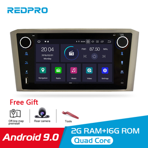 Image 1 - Android 9.0 IPS 2G RAM Car DVD Stereo Player For Toyota Avensis/T25 2003 2008 Car PC Head 1 Din GPS Navigation Video Multimedia