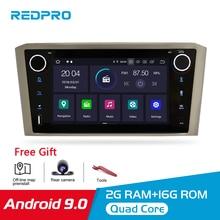 Reprodutor estereofônico de dvd do carro de android 9.0 ips 2g ram para a cabeça do computador do carro de toyota avensis/t25 2003 2008 1 multimídia video da navegação de gps do ruído
