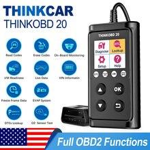 Thinkcar thinkobd 20 obd2 scanner profissional ler apagar códigos de diagnóstico vin informações obd 2 vários idiomas para o carro