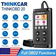 THINKCAR escáner de diagnóstico automotriz Thinkobd 20 OBD2, lector de códigos de borrado, información VIN, verificación del motor, 2 idiomas múltiples